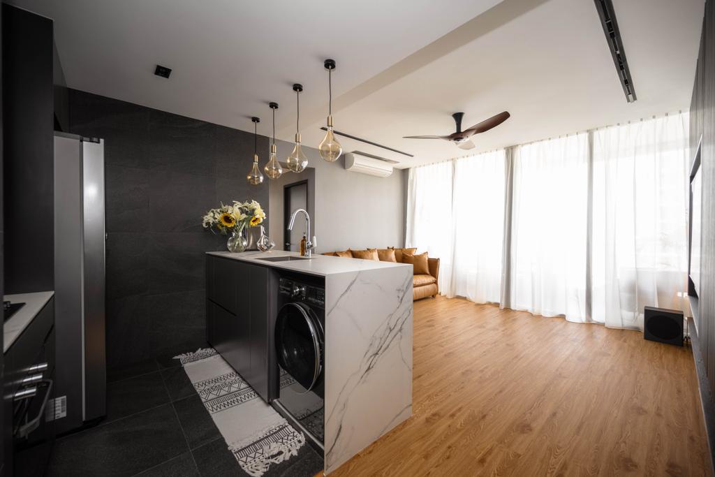 Modern, Condo, Kitchen, Sant Ritz, Interior Designer, SHE Interior