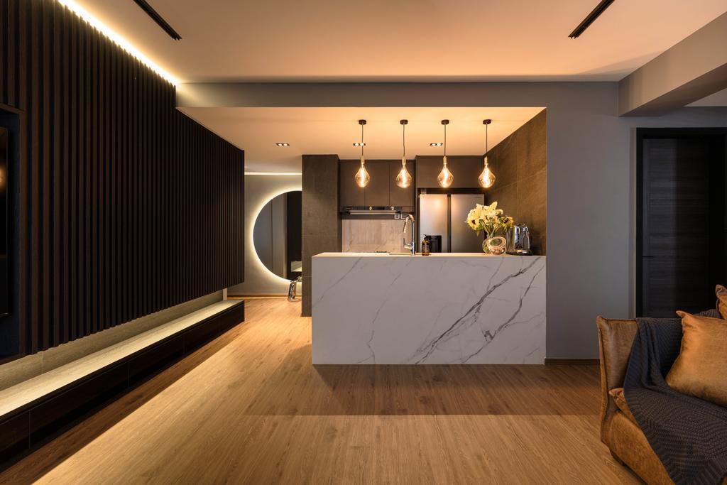 Modern, Condo, Living Room, Sant Ritz, Interior Designer, SHE Interior