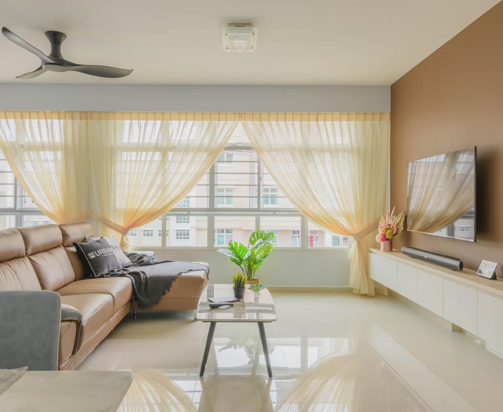 Modern, HDB, Living Room, Yishun Avenue 9, Interior Designer, Urban Home Design 二本設計家, Scandinavian