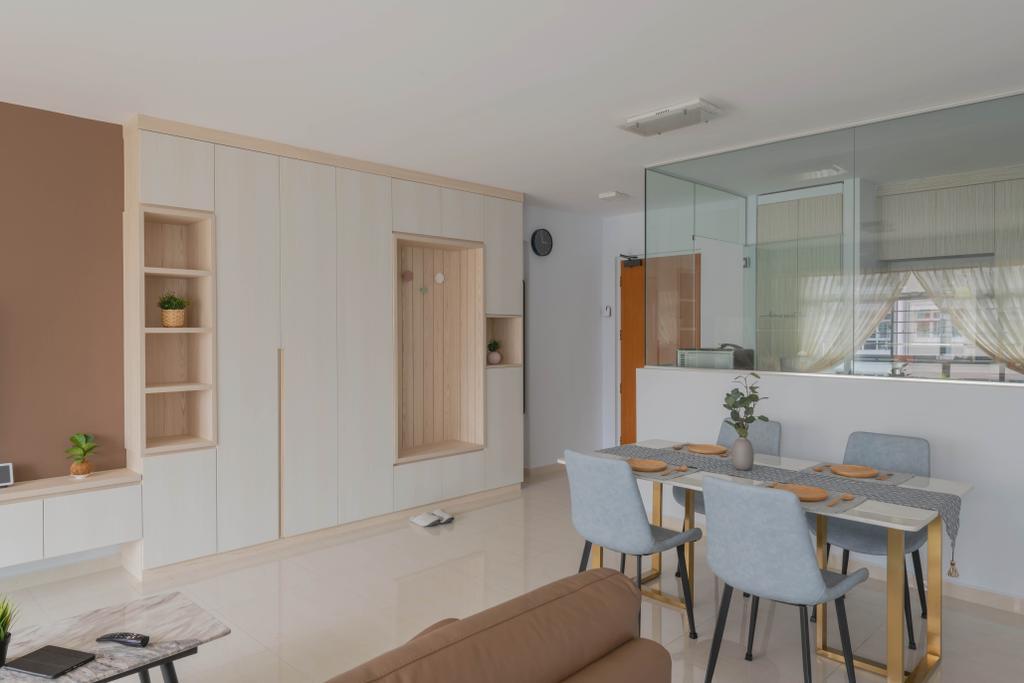 Modern, HDB, Dining Room, Yishun Avenue 9, Interior Designer, Urban Home Design 二本設計家, Scandinavian