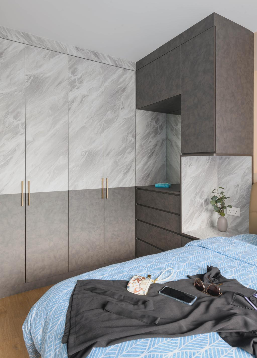 Modern, HDB, Bedroom, Yishun Avenue 9, Interior Designer, Urban Home Design 二本設計家, Scandinavian