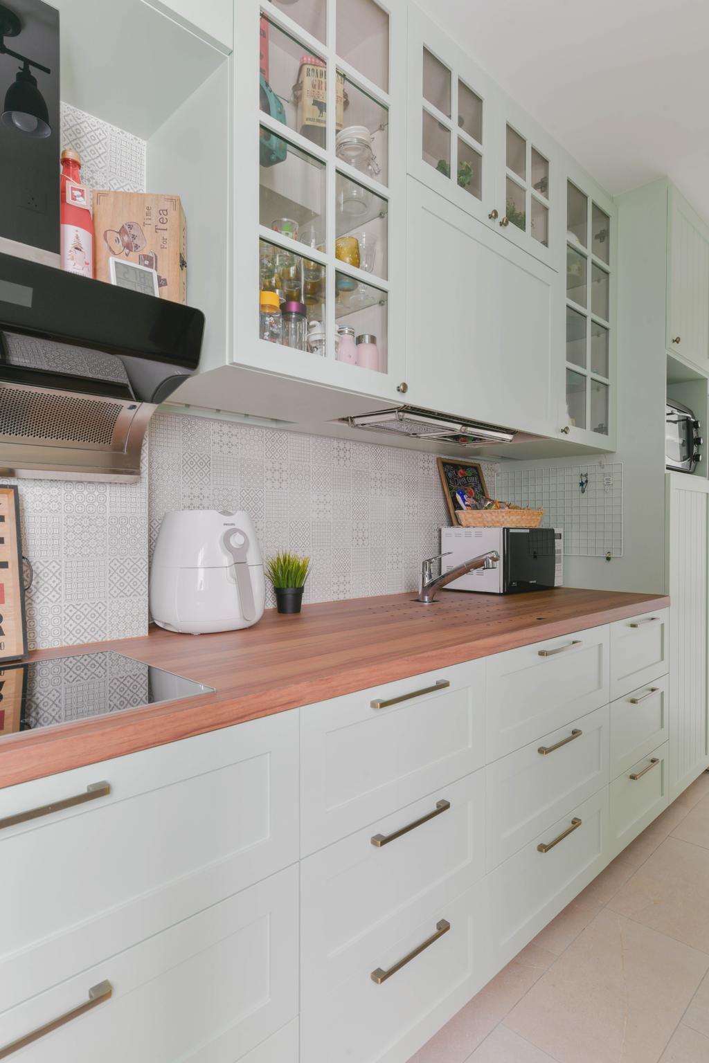 Modern, HDB, Kitchen, Bukit Batok West, Interior Designer, Urban Home Design 二本設計家, Scandinavian