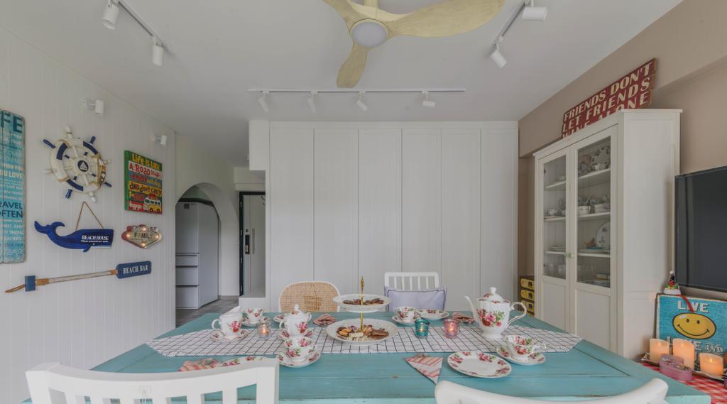 Modern, HDB, Dining Room, Bukit Batok West, Interior Designer, Urban Home Design 二本設計家, Scandinavian
