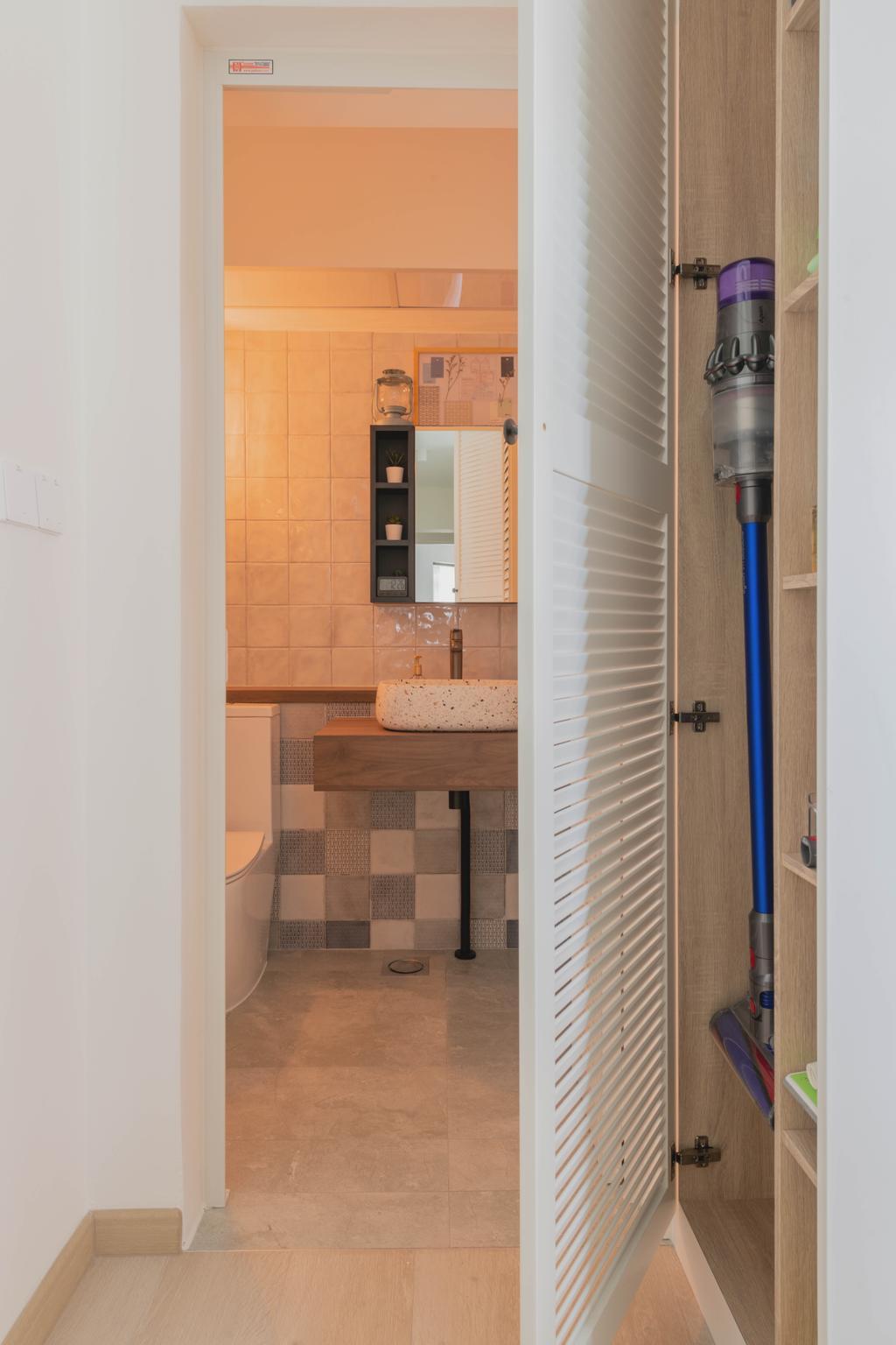 Modern, HDB, Bathroom, Bukit Batok West, Interior Designer, Urban Home Design 二本設計家, Scandinavian