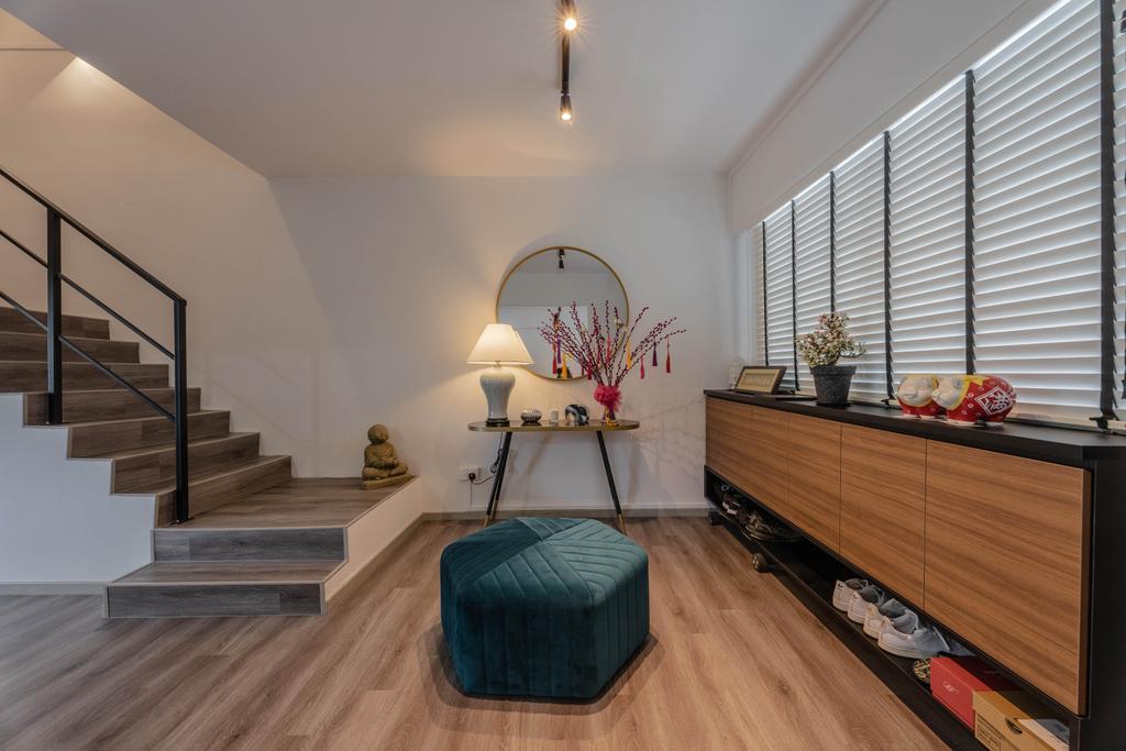 Contemporary, HDB, Living Room, Pasir Ris Street 11, Interior Designer, Todz'Terior, Maisonette