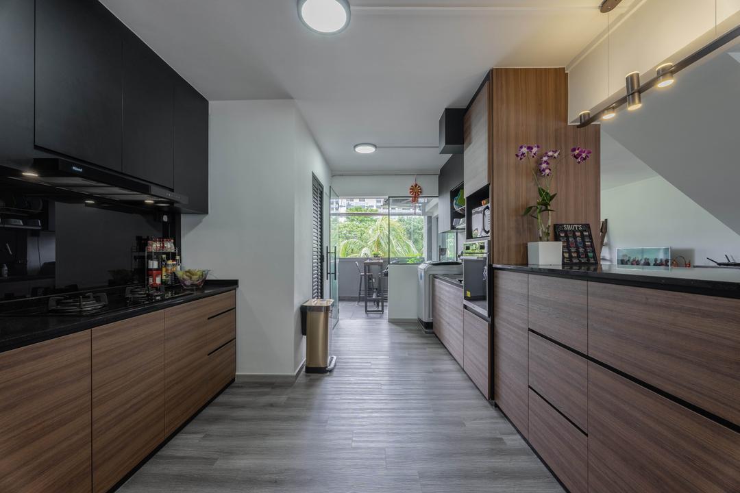 Pasir Ris Street 11, Todz'Terior, Contemporary, Kitchen, HDB