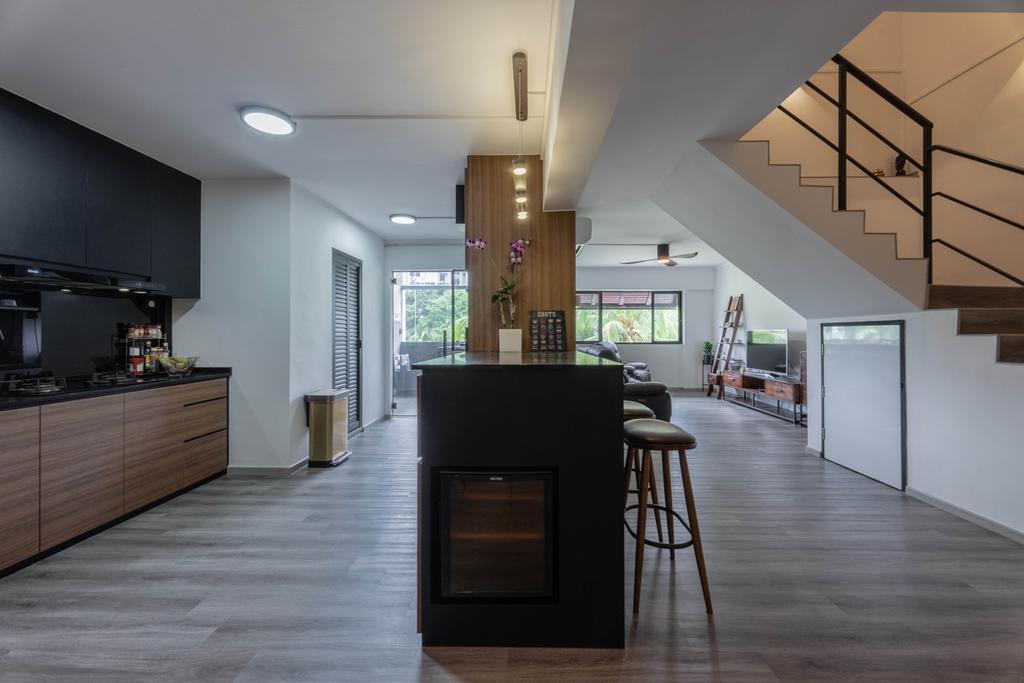 Contemporary, HDB, Kitchen, Pasir Ris Street 11, Interior Designer, Todz'Terior, Maisonette