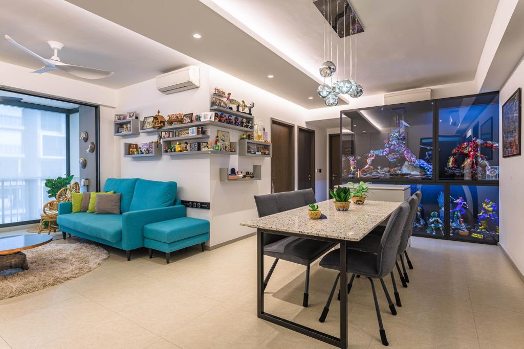 Modern, Condo, Dining Room, iNz Residence, Interior Designer, Orange Interior, Contemporary