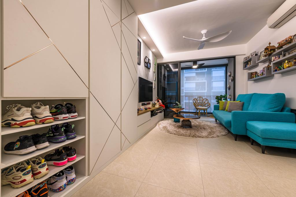Modern, Condo, Living Room, iNz Residence, Interior Designer, Orange Interior, Contemporary