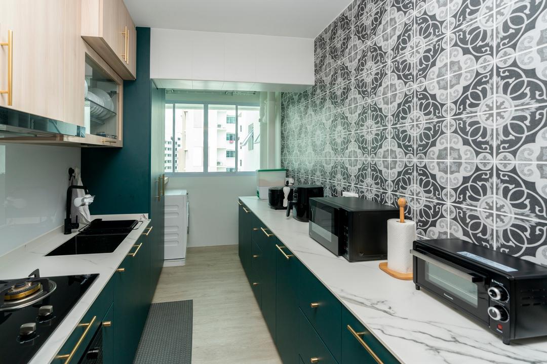 Yishun Avenue 9, ChengYi Interior Design, Contemporary, Kitchen, HDB