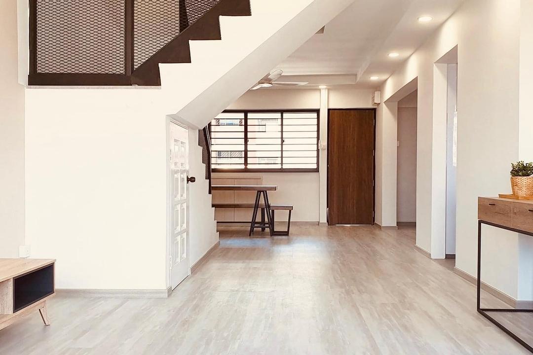 Bishan Street 21, 360 Interior, Modern, Contemporary, Living Room, HDB, Maisonette