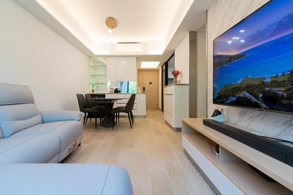 北歐, 私家樓, 客廳, 帝景居, 室內設計師, 現時設計, 簡約