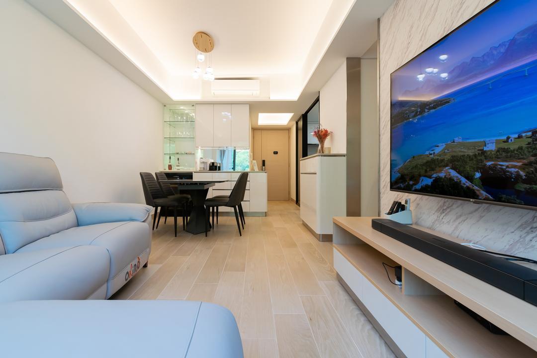 帝景居, 現時設計, 北歐, 簡約, 客廳, 私家樓