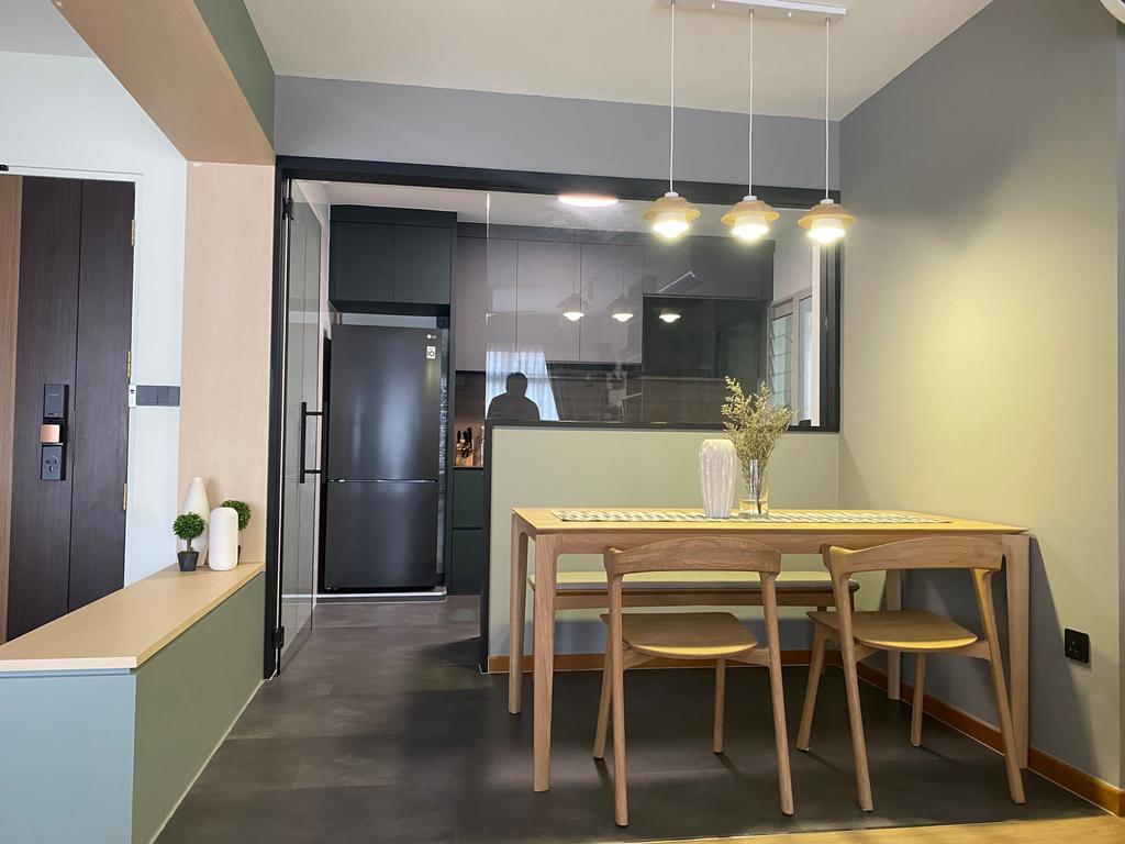 Contemporary, HDB, Dining Room, Sumang Walk, Interior Designer, Thom Signature Design