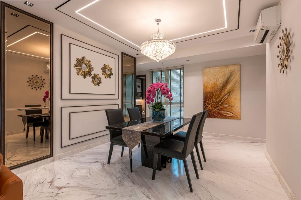 Modern, Condo, Dining Room, The Floravale, Interior Designer, Thom Signature Design