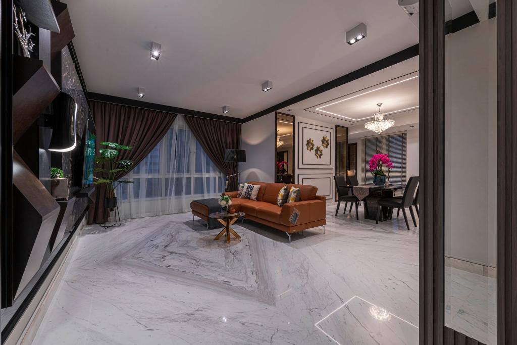 Modern, Condo, Living Room, The Floravale, Interior Designer, Thom Signature Design
