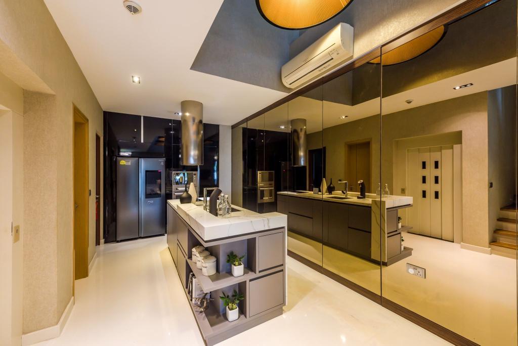 Modern, Condo, Kitchen, Grace Walk, Interior Designer, Thom Signature Design, Contemporary
