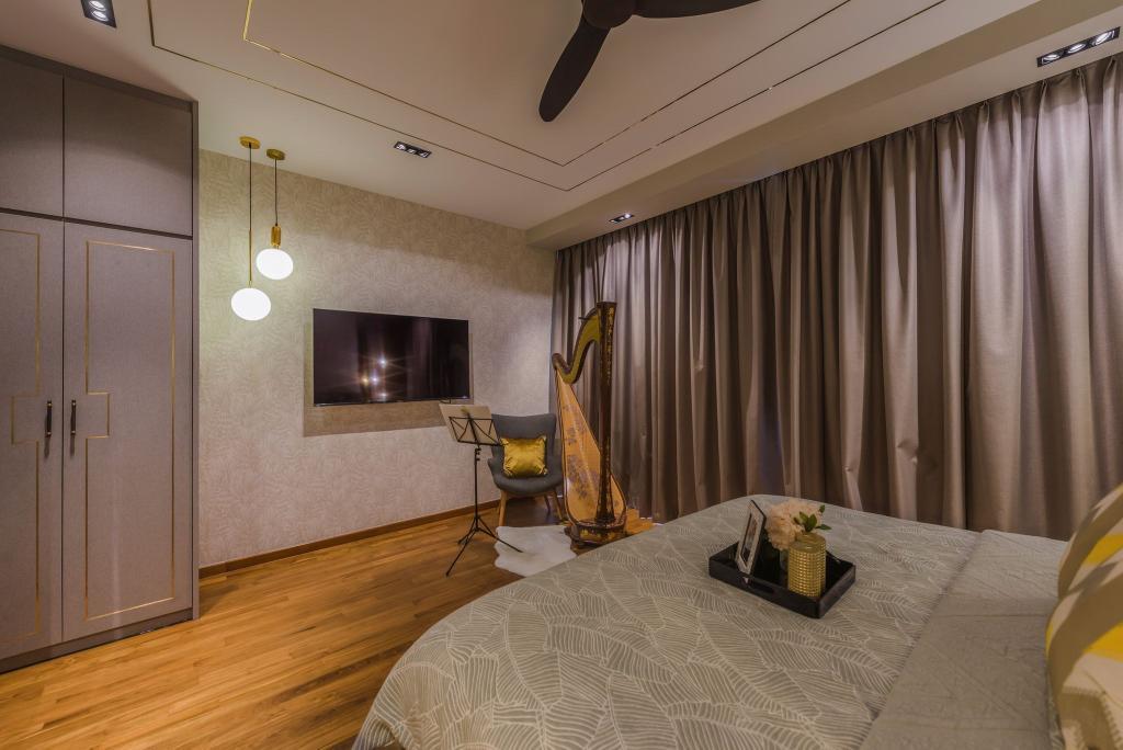 Modern, Condo, Bedroom, Grace Walk, Interior Designer, Thom Signature Design, Contemporary