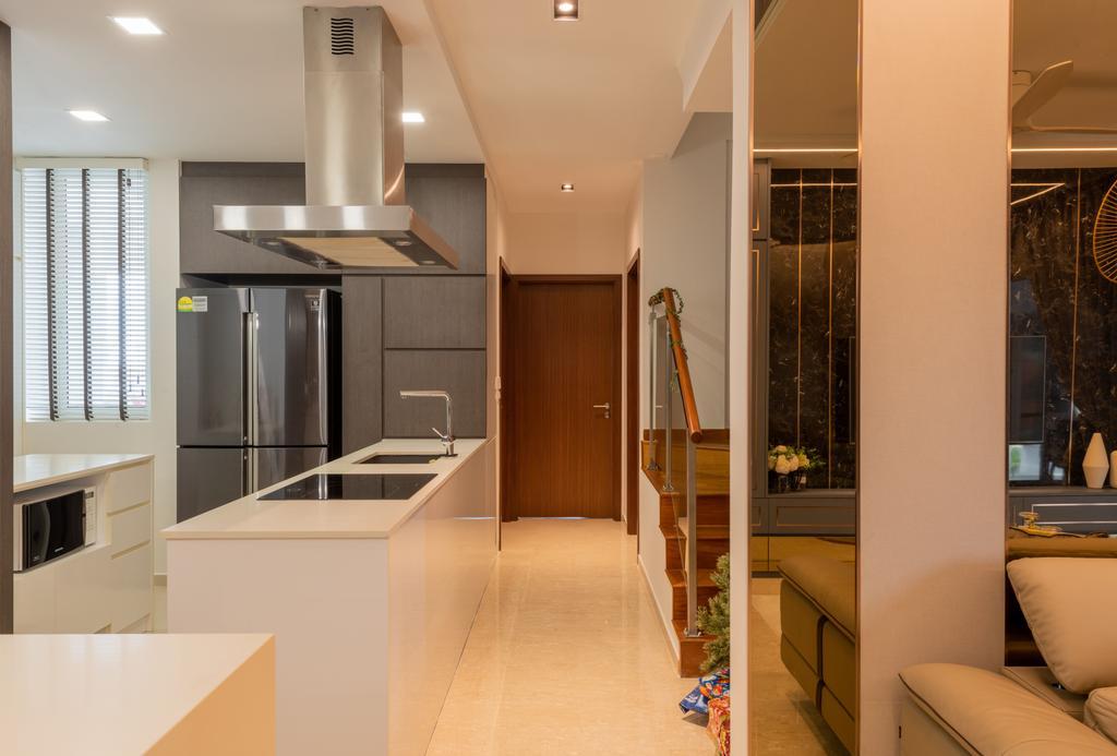 Contemporary, Condo, Kitchen, Blu Coral, Interior Designer, Thom Signature Design