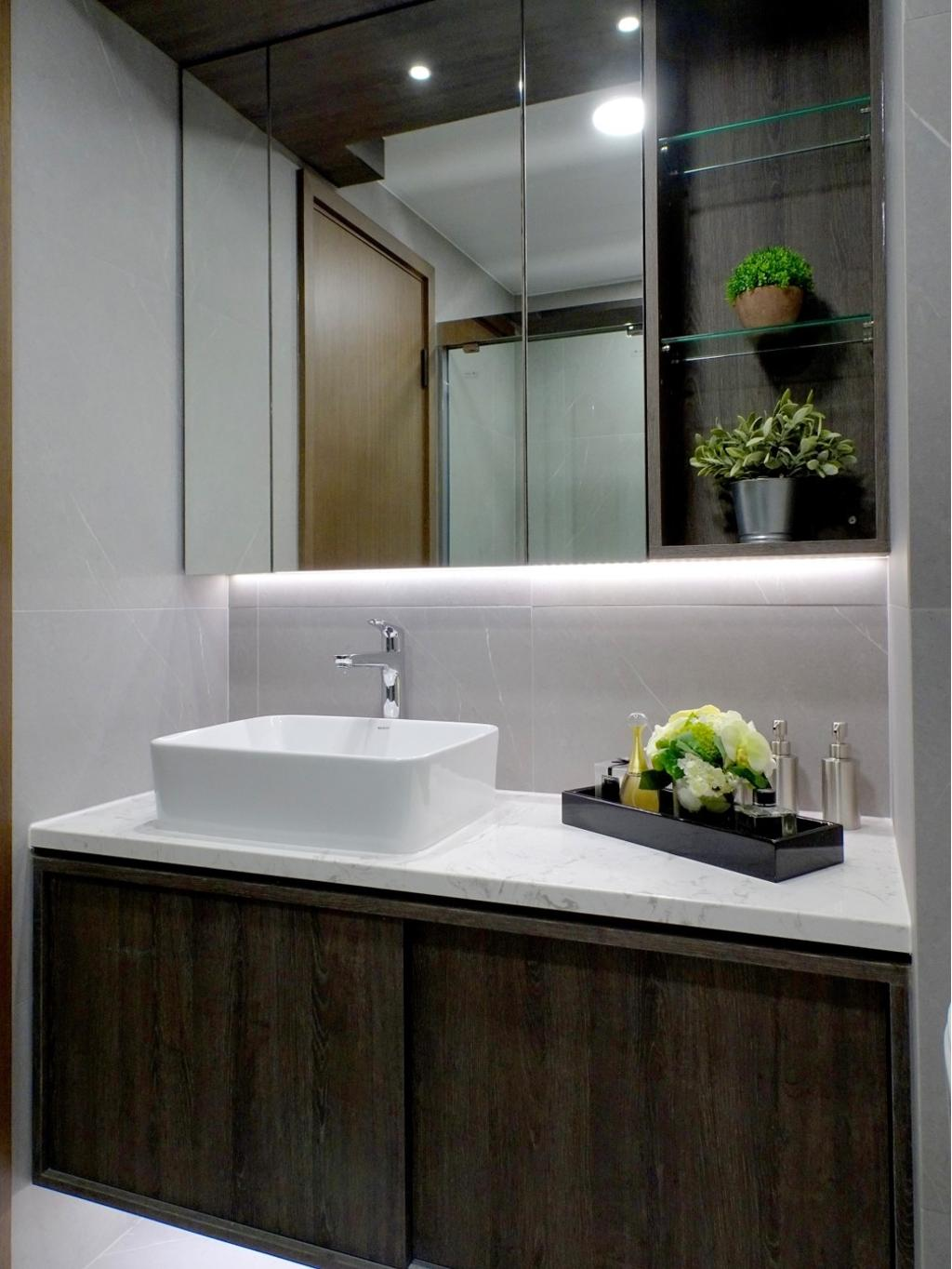 摩登, 私家樓, 浴室, 粉嶺牽晴間, 室內設計師, 禾烽室內設計, 當代