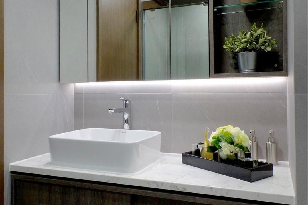 牽晴間, 禾烽室內設計, 摩登, 當代, 浴室, 公屋/居屋