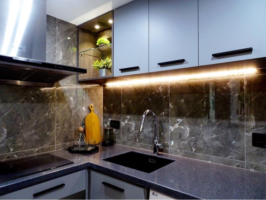 摩登, 私家樓, 廚房, 粉嶺牽晴間, 室內設計師, 禾烽室內設計, 當代