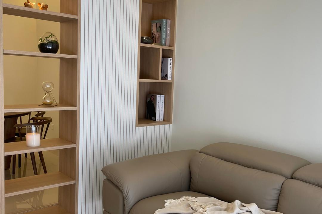 Relau, Penang, Catappa Design Studio, Scandinavian, Living Room, Condo