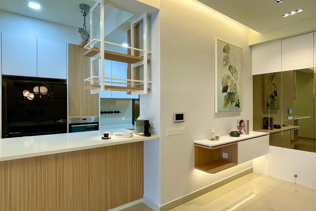 Relau, Penang, Catappa Design Studio, Scandinavian, Kitchen, Condo