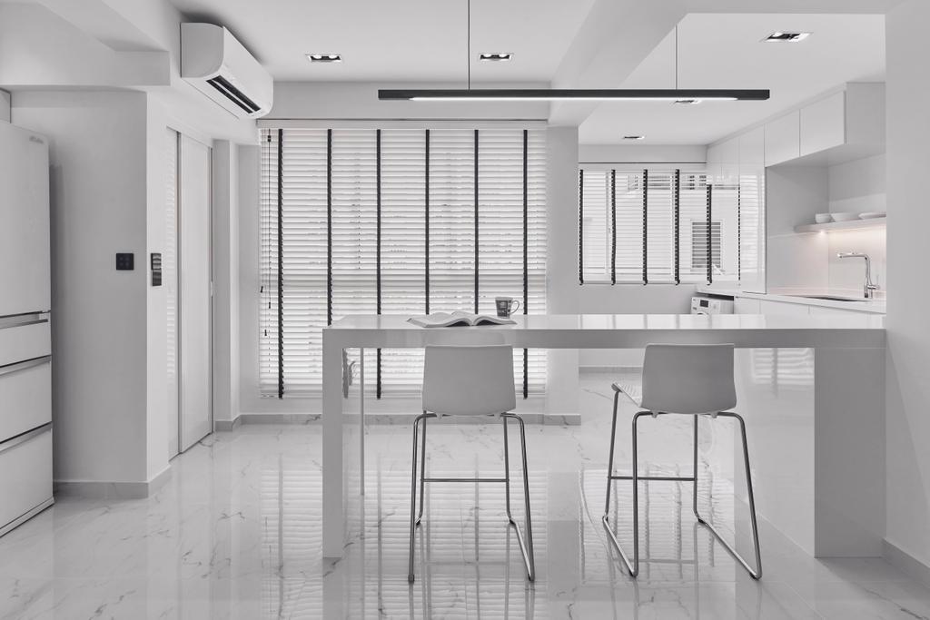 Minimalistic, HDB, Kitchen, Punggol Field, Interior Designer, Charlotte's Carpentry, Contemporary