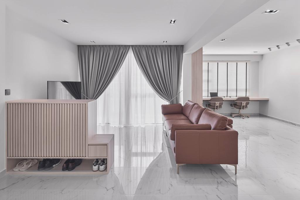 Minimalistic, HDB, Living Room, Punggol Field, Interior Designer, Charlotte's Carpentry, Contemporary