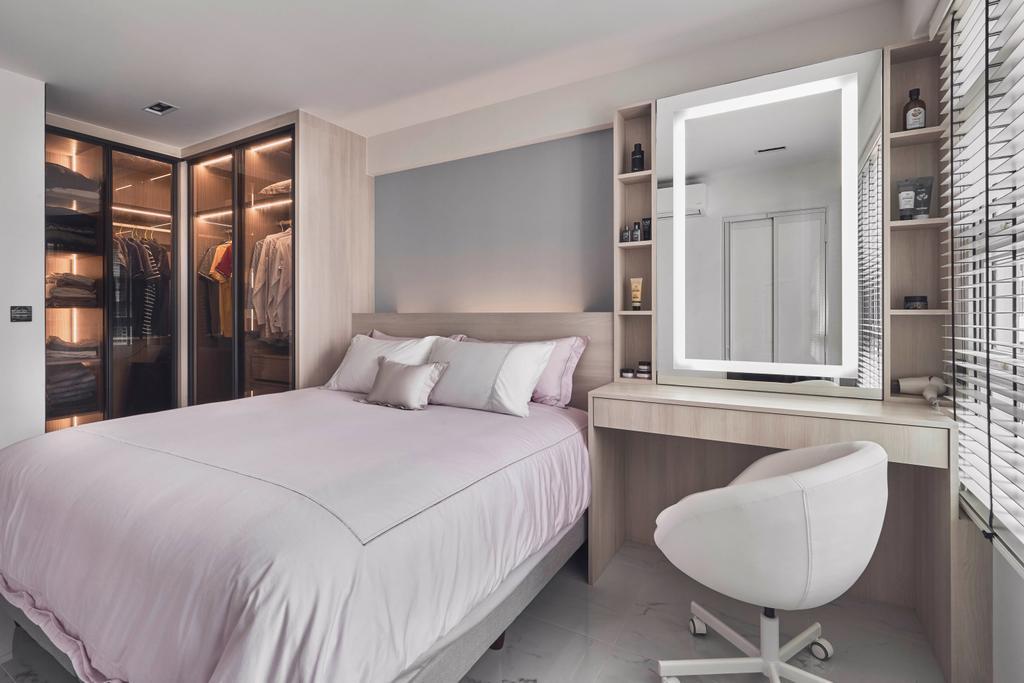 Minimalistic, HDB, Bedroom, Punggol Field, Interior Designer, Charlotte's Carpentry, Contemporary