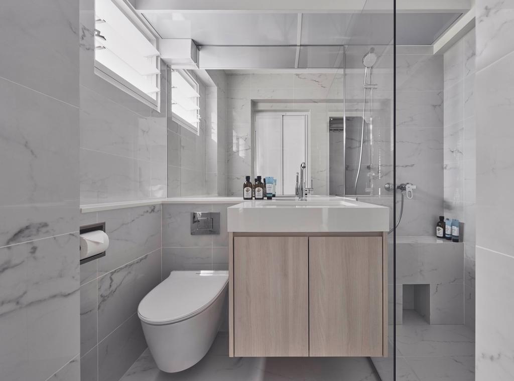 Minimalistic, HDB, Bathroom, Punggol Field, Interior Designer, Charlotte's Carpentry, Contemporary