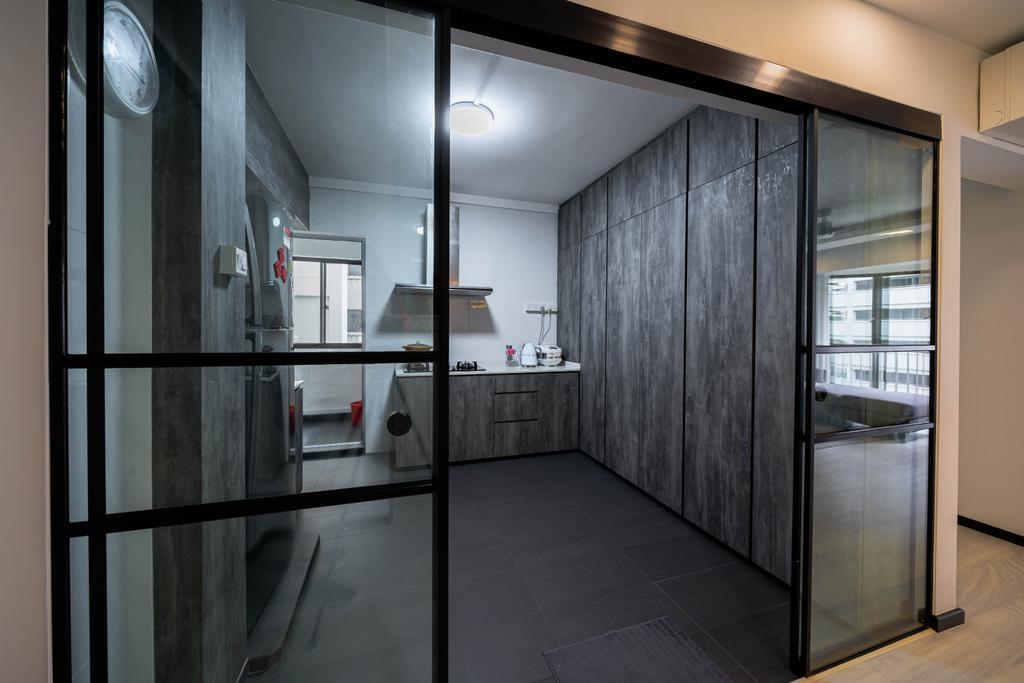 Contemporary, HDB, Kitchen, Choa Chu Kang Street 64, Interior Designer, Azcendant