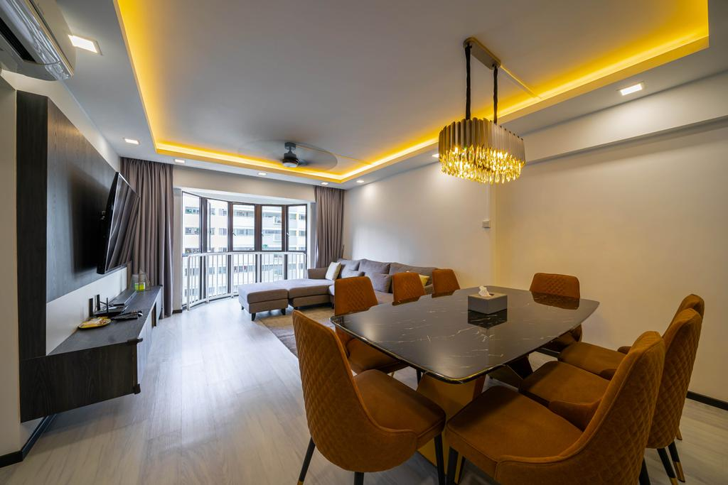 Contemporary, HDB, Dining Room, Choa Chu Kang Street 64, Interior Designer, Azcendant