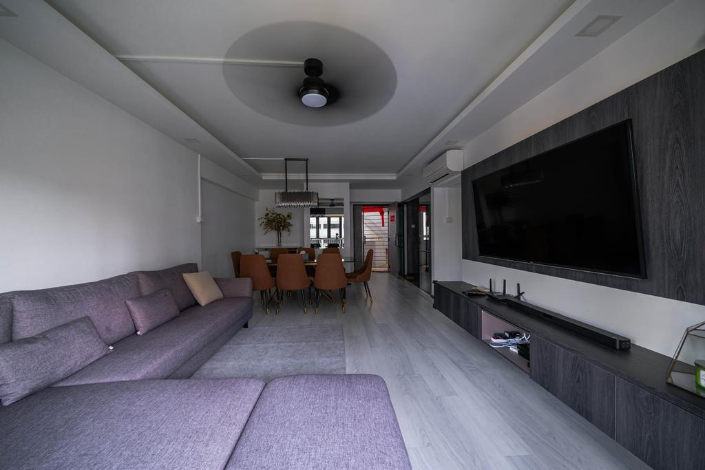 Contemporary, HDB, Living Room, Choa Chu Kang Street 64, Interior Designer, Azcendant