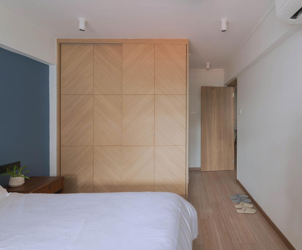 Minimalistic, HDB, Bedroom, Queen Street, Interior Designer, Urban Home Design 二本設計家