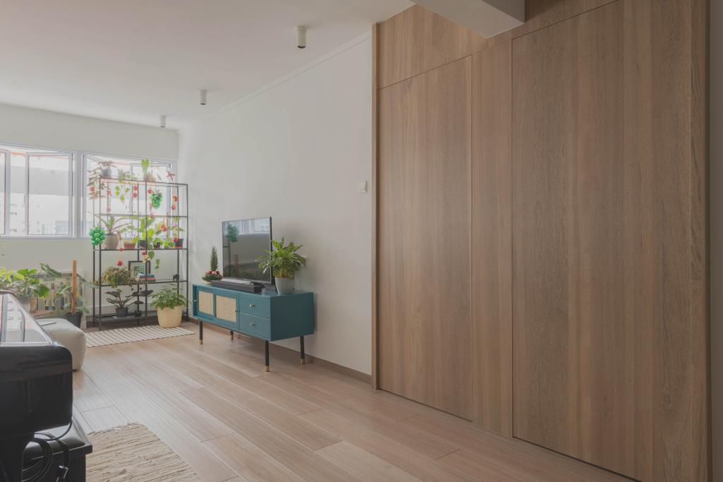 Minimalistic, HDB, Living Room, Queen Street, Interior Designer, Urban Home Design 二本設計家