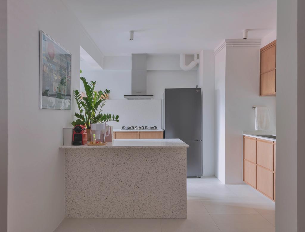 Minimalistic, HDB, Kitchen, Queen Street, Interior Designer, Urban Home Design 二本設計家