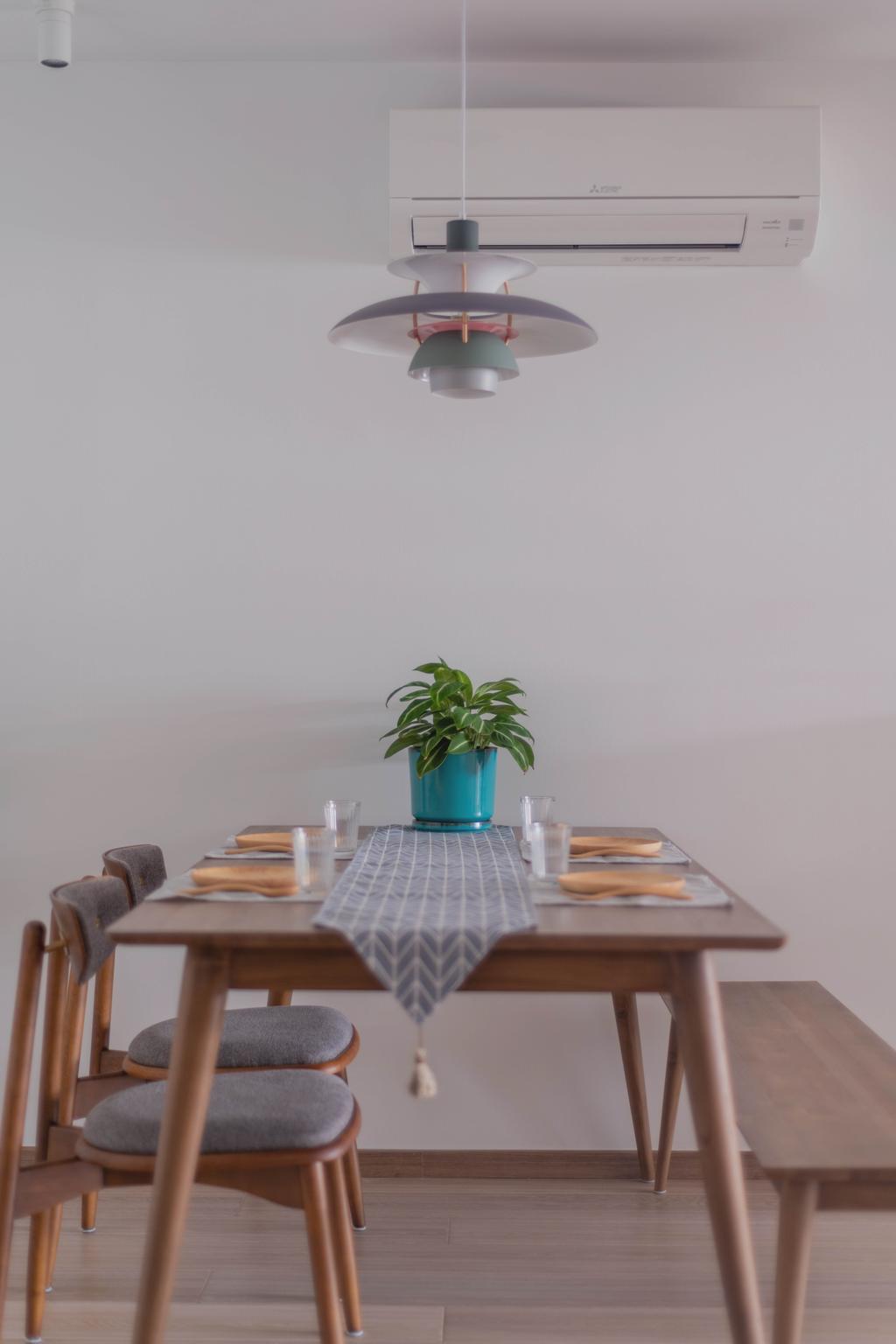 Minimalistic, HDB, Dining Room, Queen Street, Interior Designer, Urban Home Design 二本設計家
