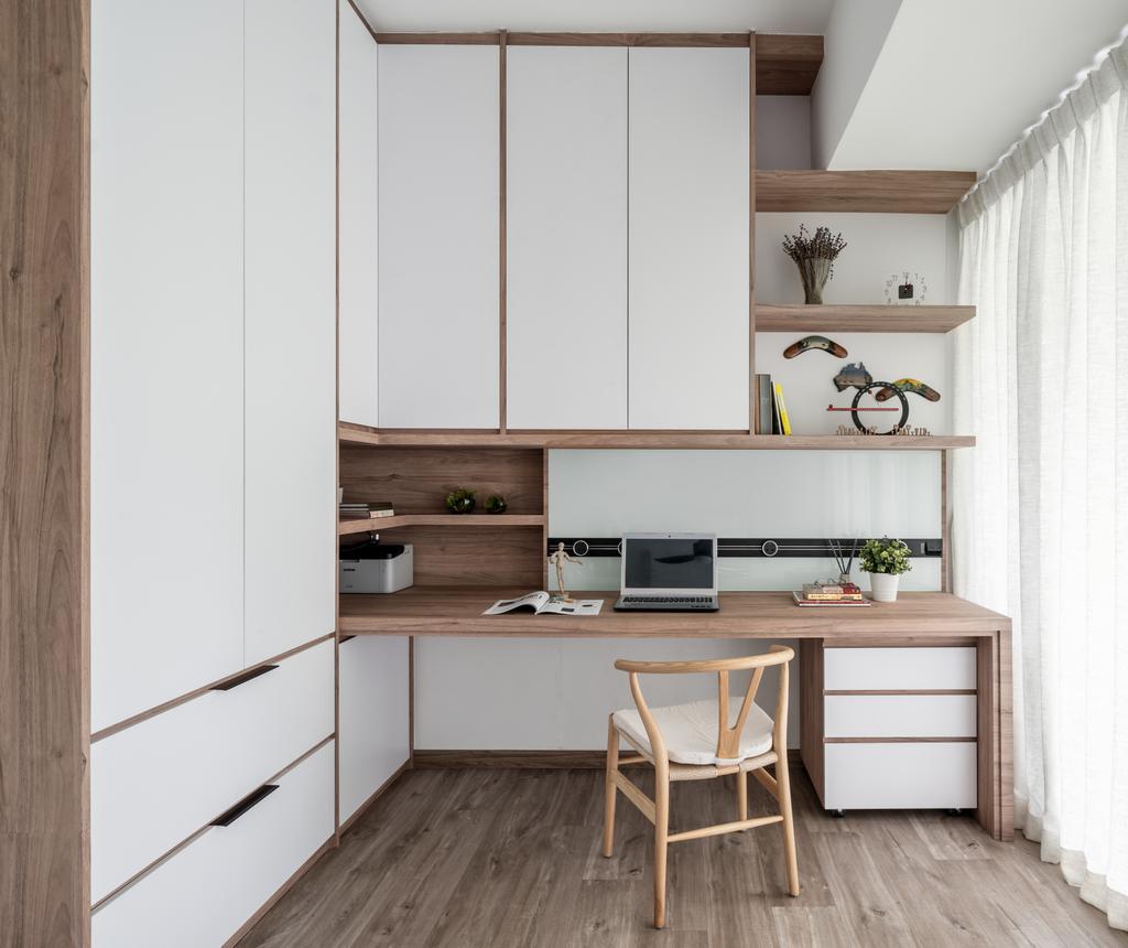 Modern, Condo, Study, H2O Residences, Interior Designer, Weiken.com, Scandinavian