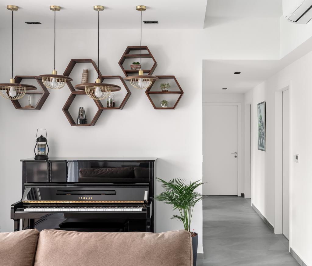 Modern, Condo, Living Room, H2O Residences, Interior Designer, Weiken.com, Scandinavian