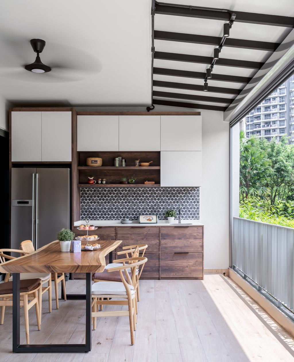 Modern, Condo, Dining Room, H2O Residences, Interior Designer, Weiken.com, Scandinavian