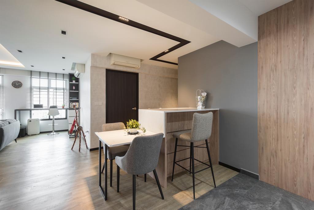 Modern, HDB, Dining Room, Choa Chu Kang Avenue 1, Interior Designer, Flo Design, Scandinavian