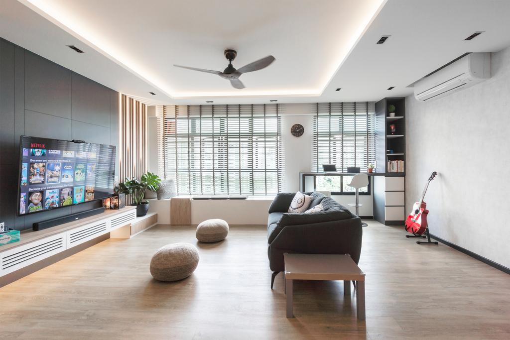 Modern, HDB, Living Room, Choa Chu Kang Avenue 1, Interior Designer, Flo Design, Scandinavian