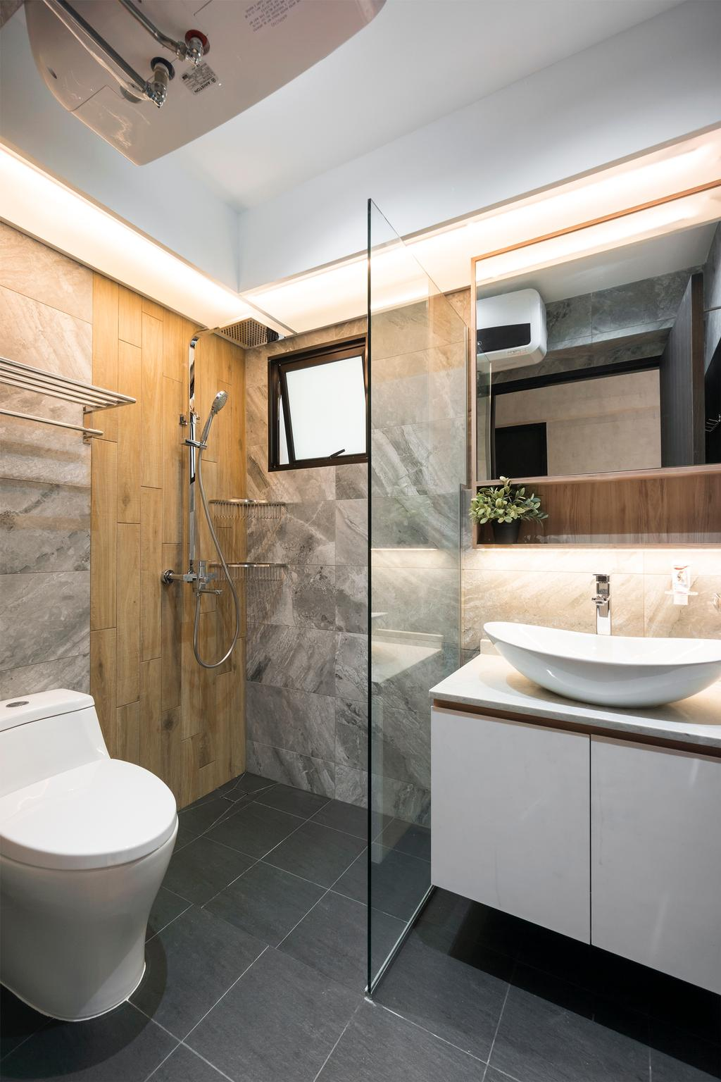 Modern, HDB, Bathroom, Choa Chu Kang Avenue 1, Interior Designer, Flo Design, Scandinavian