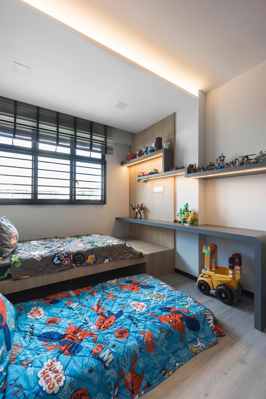 Modern, HDB, Bedroom, Choa Chu Kang Avenue 1, Interior Designer, Flo Design, Scandinavian