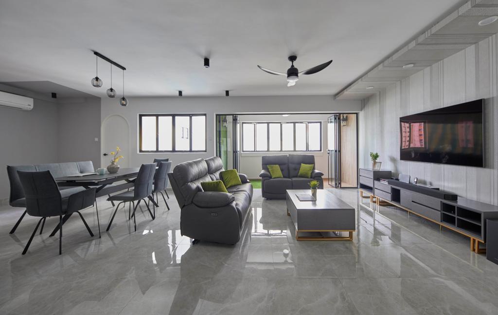 Contemporary, HDB, Living Room, Pending Road, Interior Designer, i-Chapter