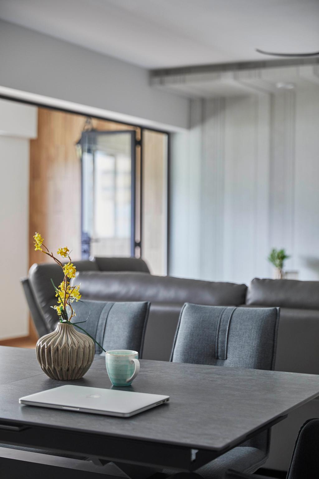 Contemporary, HDB, Dining Room, Pending Road, Interior Designer, i-Chapter