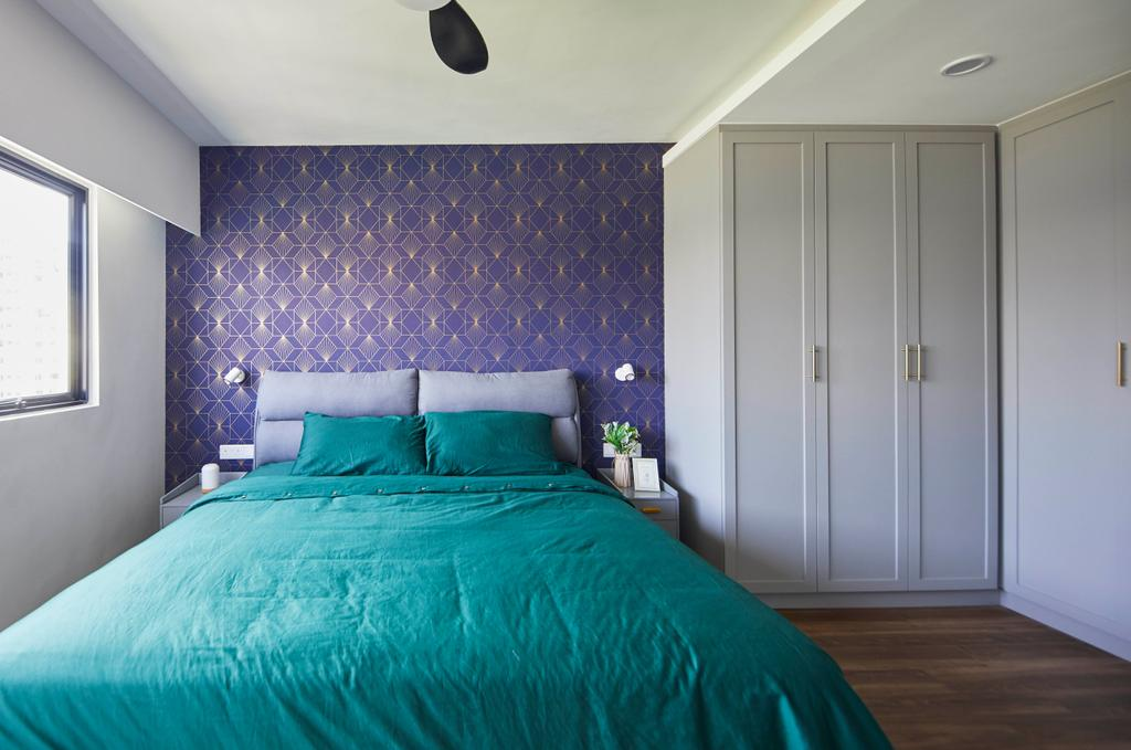 Contemporary, HDB, Bedroom, Pending Road, Interior Designer, i-Chapter