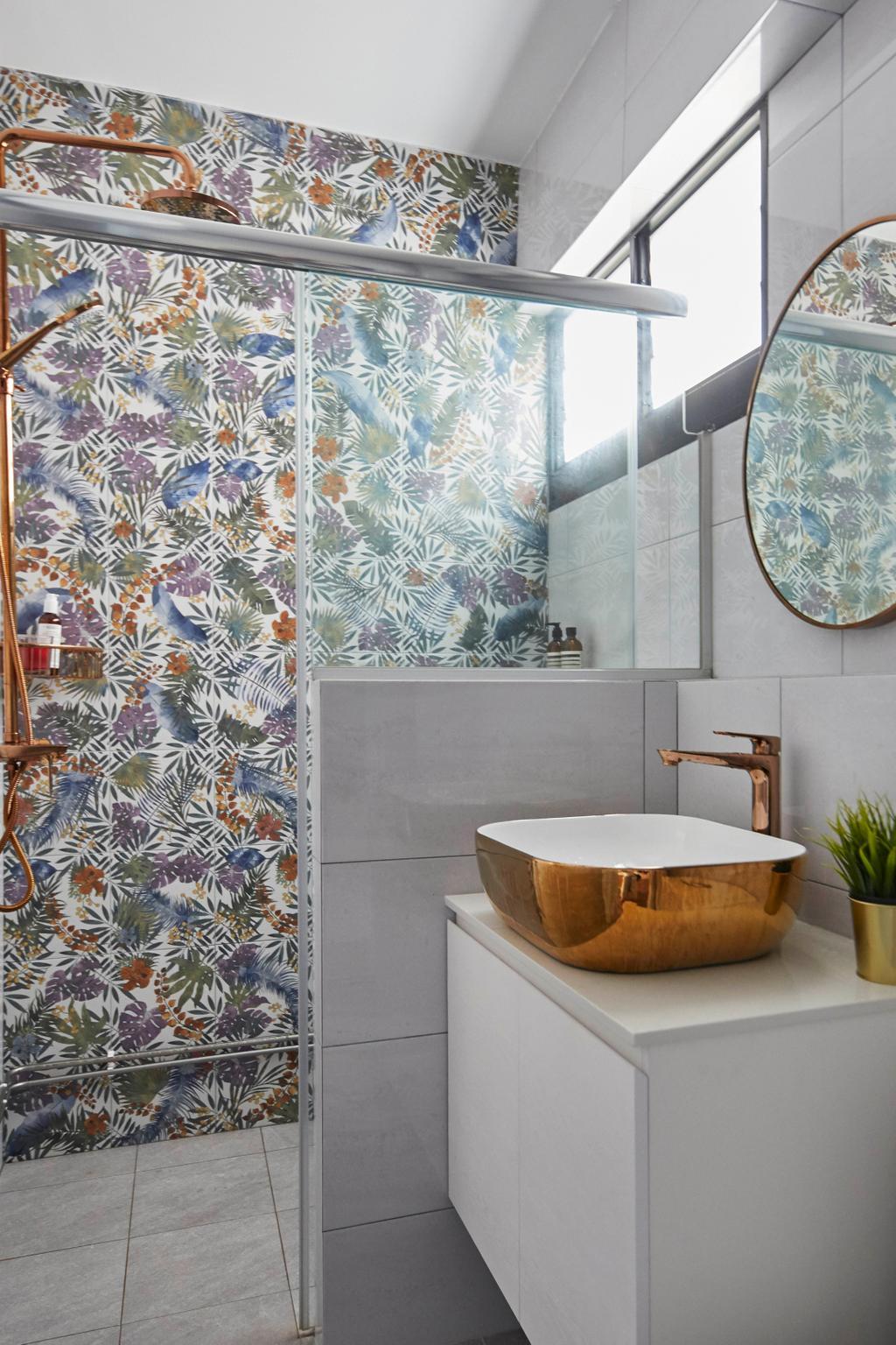 Contemporary, HDB, Bathroom, Pending Road, Interior Designer, i-Chapter
